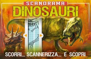 libro sui dinosauri con scanner interattivi
